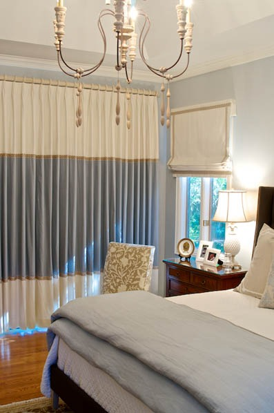 Jacksonville Interior Decorator Linford Lane Home Kishek Interiors Guest Room 6 Curtain Call: Panels Meet Form and Function